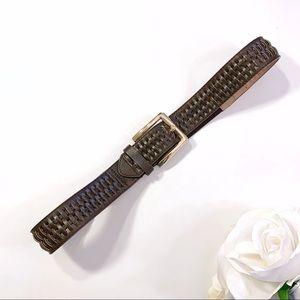 Steve Madden Women's Brown Faux Leather Belt